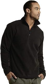 Knocker Men's Polar Fleece Quarter Zip Pullover by Teejoy