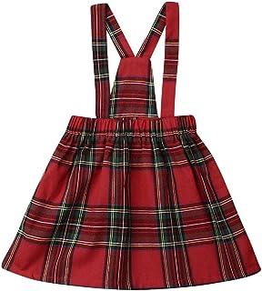 ملابس الأطفال حديثي الولادة للأولاد رومبير / طفل فتاة ملابس حزام فستان حمالة تنورة أطفال ملابس بدون أكمام عيد الميلاد منقوشة