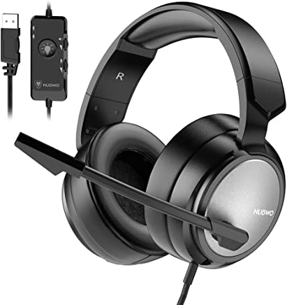 $35 Get BENGOO N12 Gaming Headset for PS4, PC, 7.1 Surround Sound Over Ear Headphones with Noise Cancelling Mic, On-Line Volume/MIC Control, Soft Memory Earmuffs, USB Stereo Computer Headset for Mac Laptop