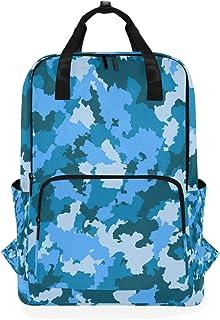 MONTOJ Mochila de Viaje Azul Camuflaje Mochila Escolar