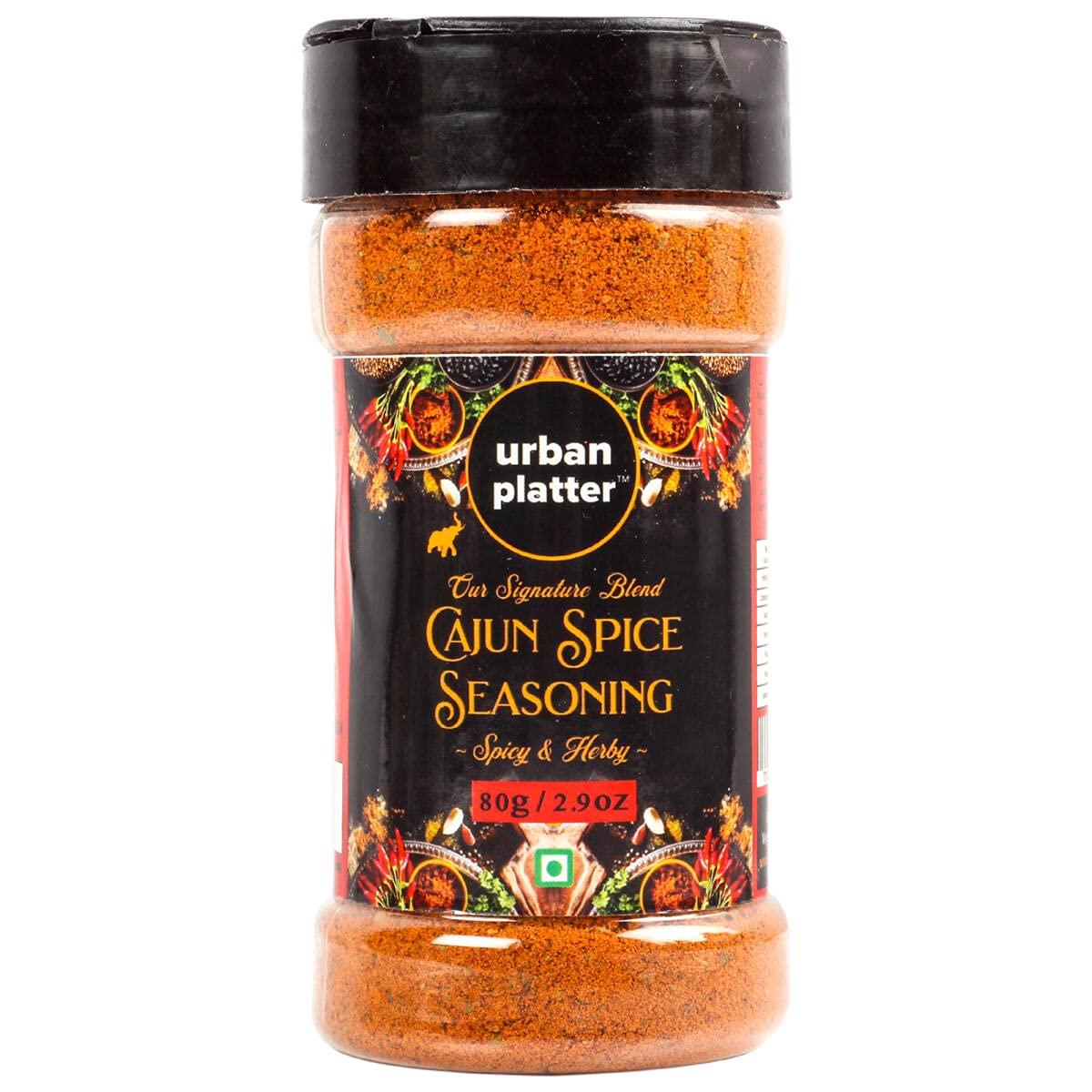 Urban Platter Cajun Spice Seasoning Spicy Selling and selling Her Inexpensive Jar Shaker 80g