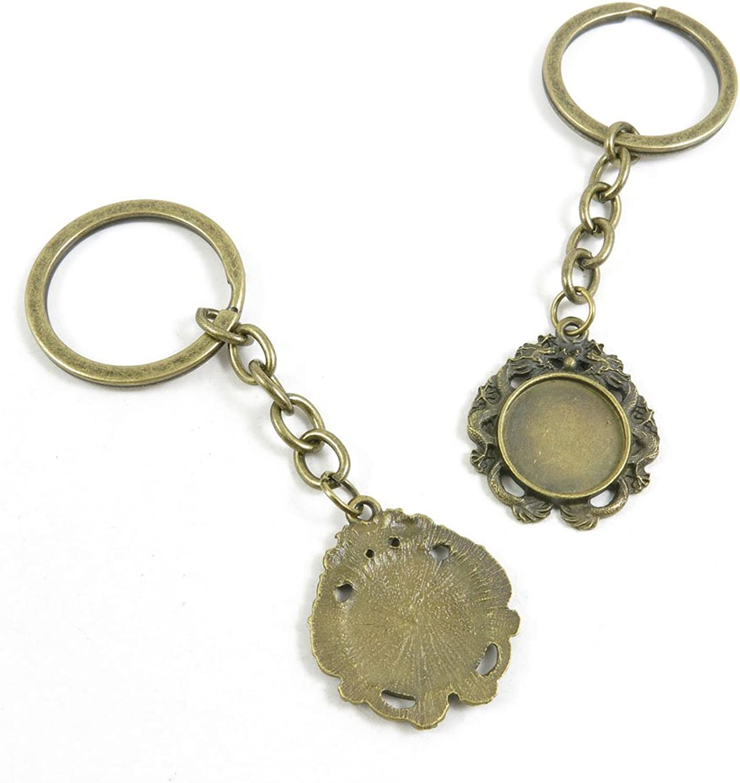 160 Pieces Fashion Jewelry Keyring Keychain Door Car Key Tag Ring Chain Supplier Supply Wholesale Bulk Lots J2NJ0 Dragon Cabochon Base Blank 16mm