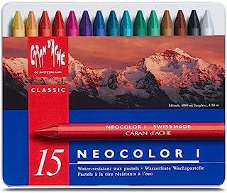 Neocolor I Water-Resistant Wax Pastels, 15 Colors
