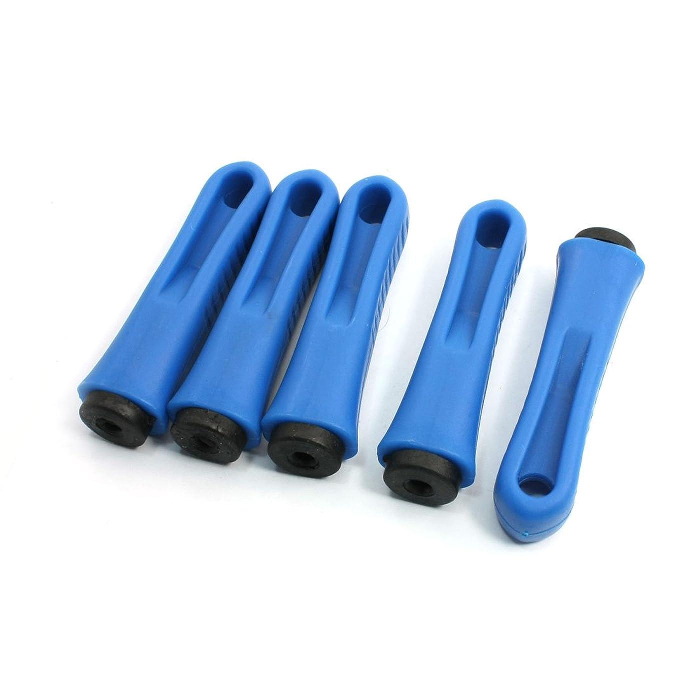 服を着る理容室酸っぱいuxcell ファイルハンドル ハードプラスチック ノンスリップ ブルー ブラック 5個
