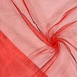 Fabulous Fabrics Organza signalrot, Uni, 145cm breit –