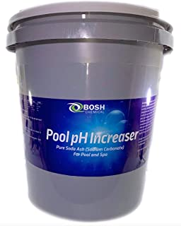 Bosh Chemical Pool pH Increaser | Pure Soda Ash (Sodium Carbonate) 40 lbs | for Pool and Spa |