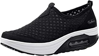 Rmeioel Women Outdoor Mesh Casual Solid Color Sports Shoes Thick-Soled Air Cushion Slip-Ons Breathable Shoes Sneakers