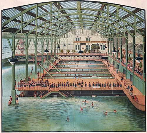 USA - Sutro Baths - (c. 1896) - Vintage Advertisement (24x36 Giclee Gallery Print, Wall Decor Travel Poster)