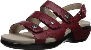 Aravon Women's Power Comfort Three Strap Heeled Sandal