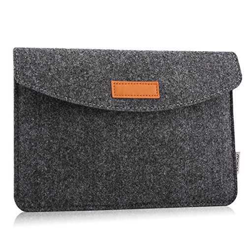 MoKo Funda de Fieltro 7-8 Pulgadas - Sleeve Bag Maletín de Carpeta Cover Case para Apple iPad Mini 1 2 3 4 / Galaxy Tab S2 8.0 Tableta con Card Slot y Bolsillos ect, Gris Oscuro
