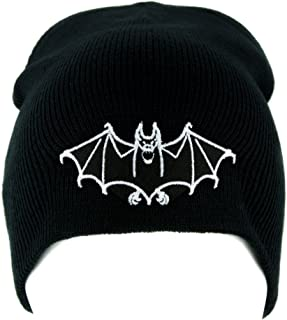 White Vampire Bat Beanie Knit Cap Dark Goth Alternative Clothing Dracula  Nosferatu 8603852c477e