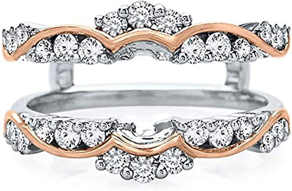 Palaksh Super beauty product restock quality top! Jewelry Round Cut White 14K 925 Sterling Silver Diamond Industry No. 1
