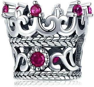 Charm Corona Regale Reale Regina idea regalo ciondolo bracciale