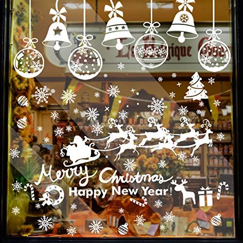 284 Pcs Weihnachtsfenster Aufkleber, Fensterdeko Weihnachten, Party Neujahrsbedarf, DIY-Dekorationen für Türen, Fenster und Vitrinen, Weihnachten Theme Party, PVC Statische Aufkleber