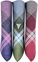 Van Heusen Men's Cotton Handkerchief (Multicolour) - Pack of 3