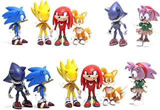 6PCS Sonic Hedgehog Cake Topper and Cup Cake Topper, Sonic Hedgehog Birthday Party Cake Decorations, Sonic Hedgehog Action...