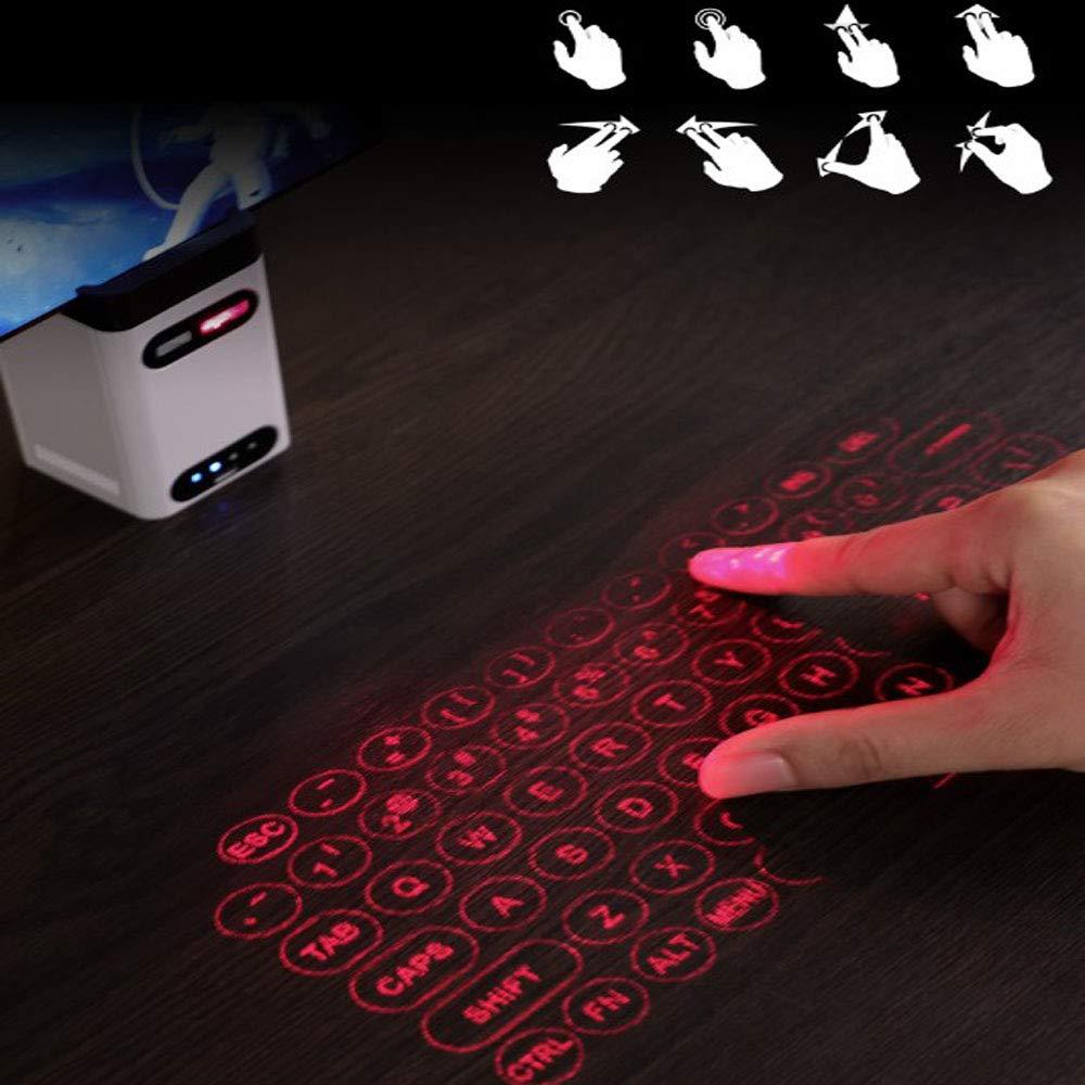 BESTSUGER Teclado Virtual, Teclado de proyección Bluetooth con ...
