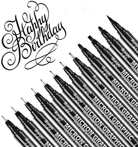 12 unidades Rotuladores Profesionales Pen For Dibujo Técnic