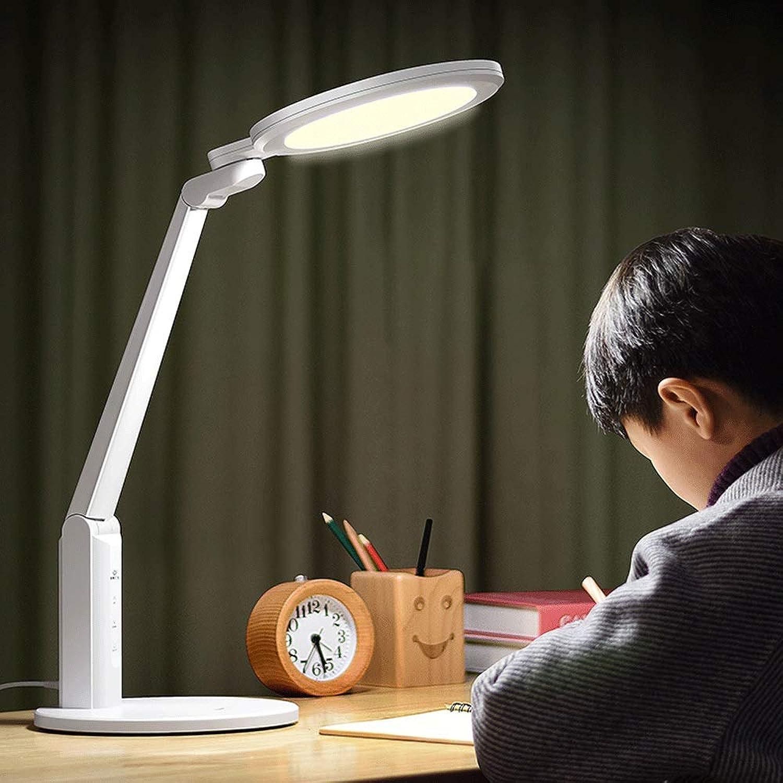 HS-01 Tischlampe, LED-Schreibtischlampe Augenschutz Schreibtisch Kinder Lernen Student Writing Schlafzimmer Schlafsaal Plug-in Leselampe Schreibtischlampe (wei)