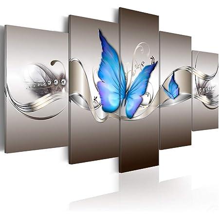 Wall Art Poster Blue Butterfly Art Print // Canvas Print Home Decor