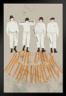 The Old Ultra Violence Minimalist Movie Black Wood Framed Art Poster 14x20