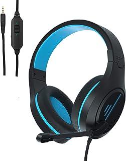 Auriculares para juegos Anivia con micrófono con cancelación de ruido, auriculares PS4 con sonido Crystal Gaming, auriculares con almohadilla de espuma viscoelástica para Xbox One, PC, Mac, portátil, móvil