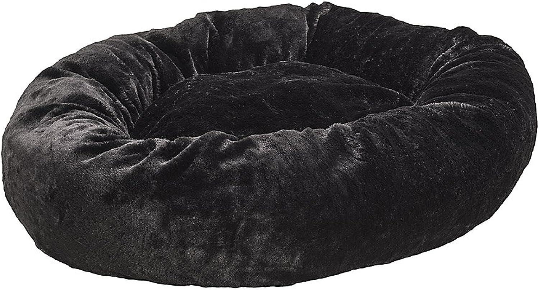 Ethical Pets Sleep Zone AllAround Fur Pet Bed, 32Inch, Black
