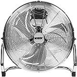 "MYLEK 18"" High Velocity Floor Fan Chrome Cool Cold Air Circulator 3 Speed"