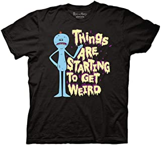 Ripple Junction Rick and Morty Adult Unisex Starting to Get Weird V2 Light Weight 100% Cotton Crew T-Shirt