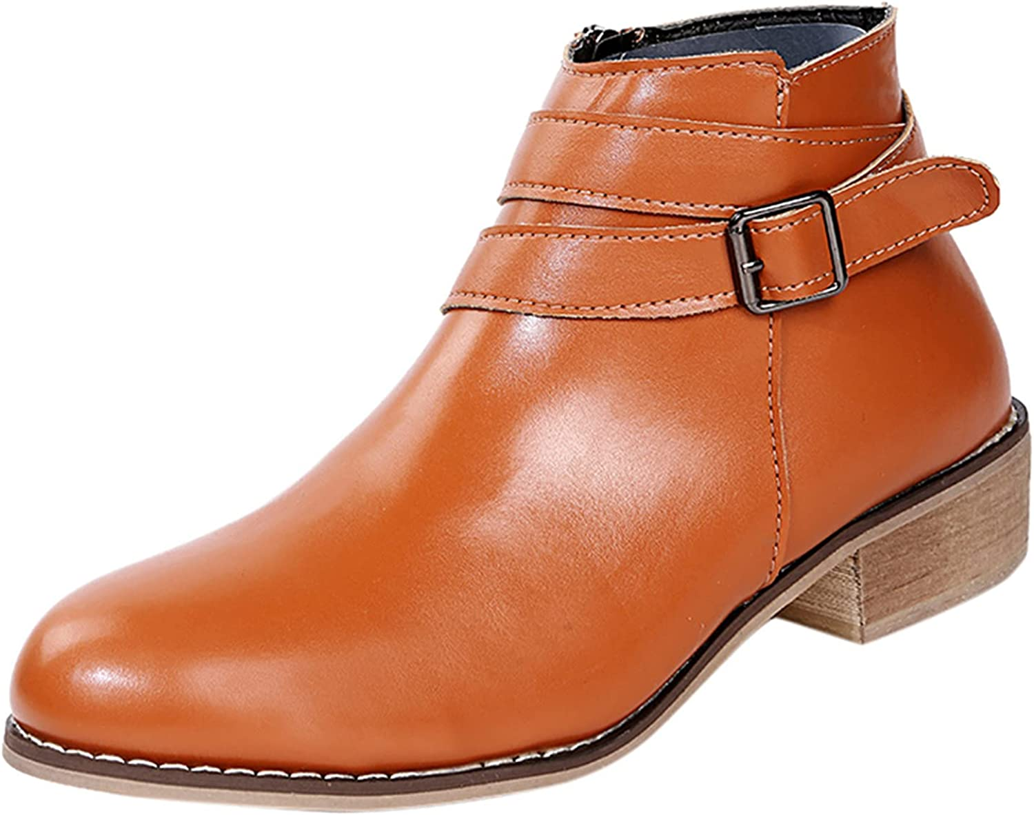 BGFIIPAJG Fall Boots for Women,Womens Non-Slip Solid Color Squar