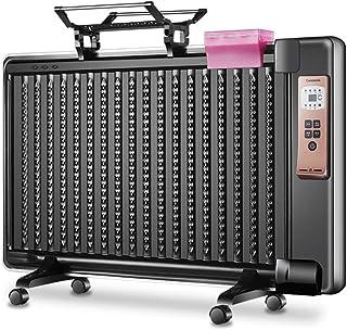 YXP Radiador eléctrico Lleno de Aceite, Calentador de Panel de 1800 W, termostato Ajustable, de pie, Horas de protección contra sobrecalentamiento.