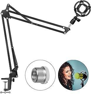 Soporte de Micrófono Soporte de Brazo para Profesional, con Araña y Adaptador de 3/8 a 5/8, 360 ° Ajustable, Compatible con Micrófono Blue Yeti y Otros Tipos de Micrófonos