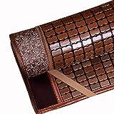 CAIJUN Summer Sleeping Mats Single Use Mahjong Table Cool and Smooth No Burr Student Dormitory Wrapped Foldable, 0.8x1.9m Plant pad