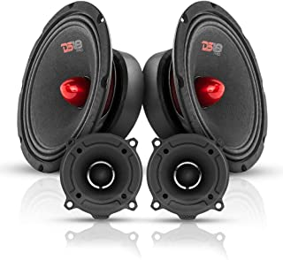 $94 » DS18 Bullet Midrange and Tweeter Combo - Complete Mids and High Car Audio Package - Includes 2X 8 Midrange Loudspeaker and...