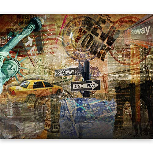 murando Fototapete 350x270 cm Vlies Tapeten Wandtapete XXL Moderne Wanddeko Design Wand Dekoration Wohnzimmer Schlafzimmer Büro Flur New York 10040904-56