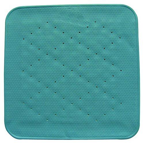 MSV 140206 Tapis Fond de Bain Caoutchouc + Carbonate de Calcium Bleu 54 x 54 x 0,1 cm