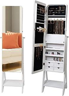 Kays Armoire à Bijoux avec Miroir Organisateur Bijoux Armoire de Bijoux muraux Armoire avec Miroir pour Femmes Dressing Mi...