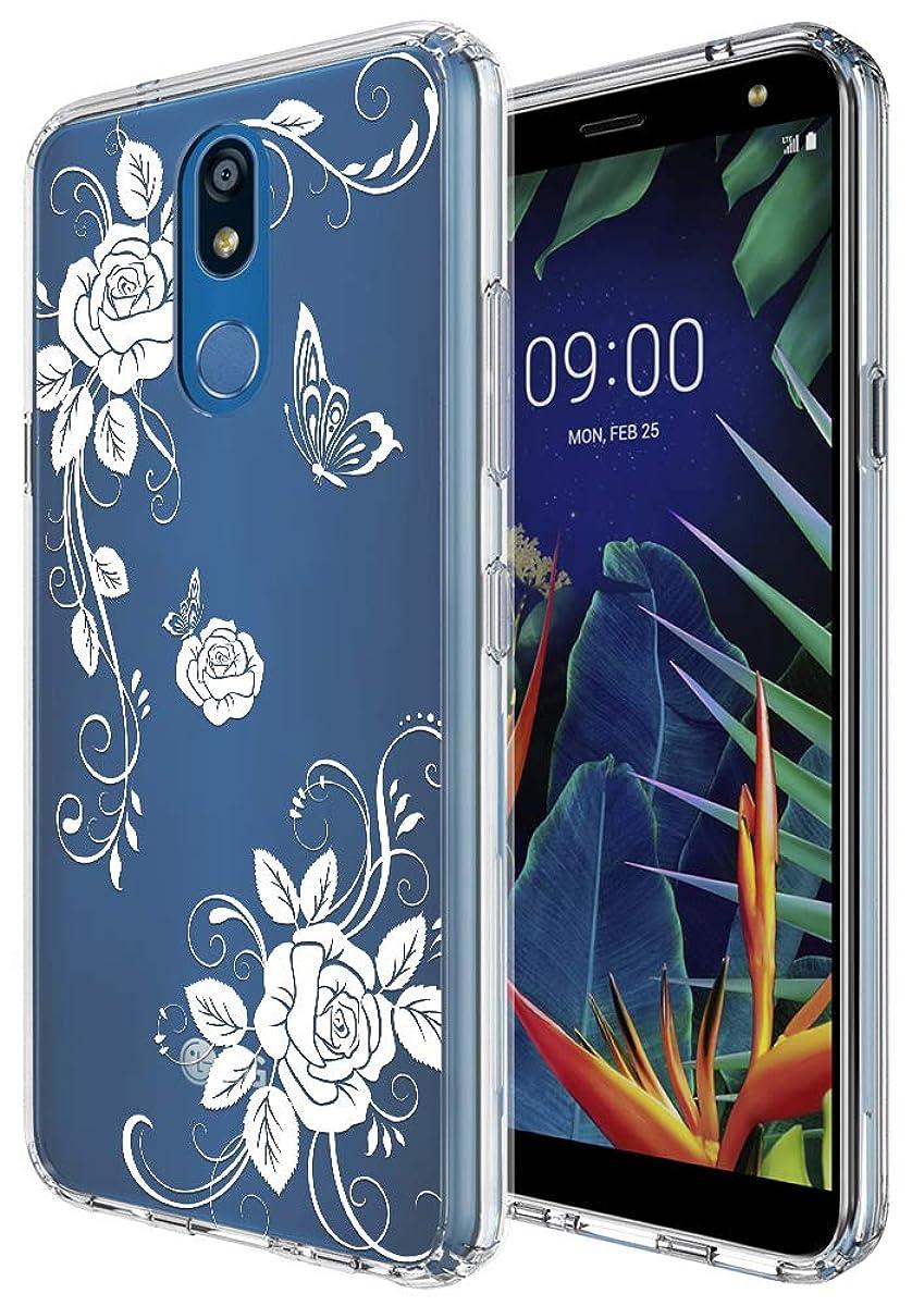 Slinco Crystal Clear Flower Designed for LG K40 Case, LG K12 Plus/LG X4 Case (2019), Ultra Hybrid PC+TPU Anti-Scratch Slim Fit Cover Case for LG K40/LG K12 Plus/LG X4 (2019) (Flower)