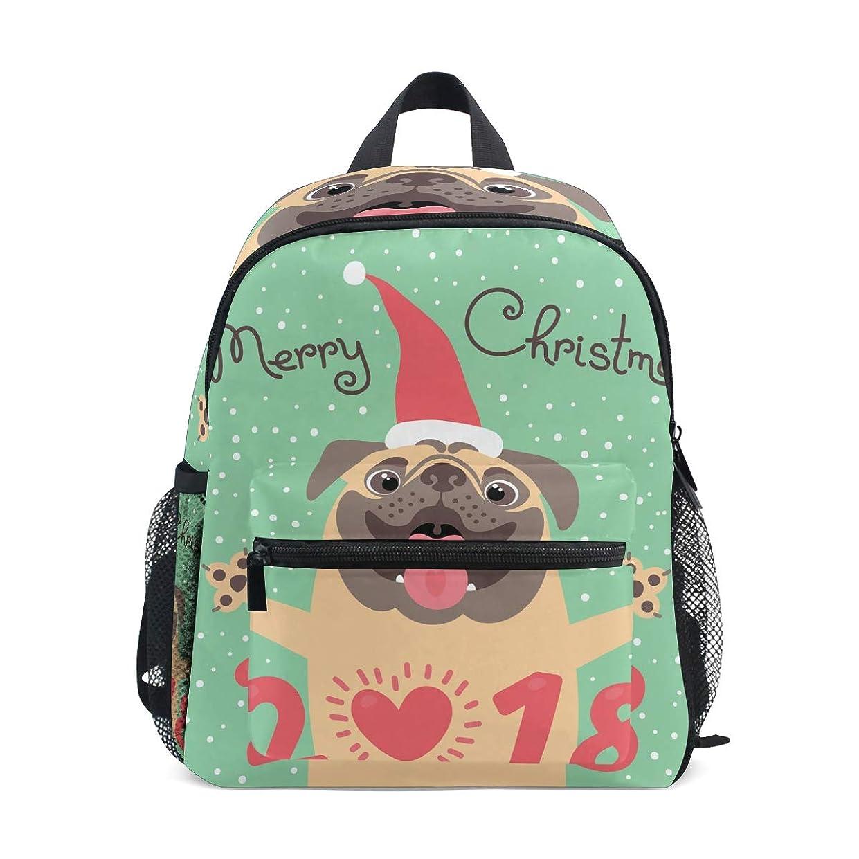 主張印刷するスチールキッズ リュック リュックサック バックパックメリークリスマス 小サイズ ジュニア通学 バッグ 通園 遠足 デイバッグ 軽量 ポリエステル 撥水加工