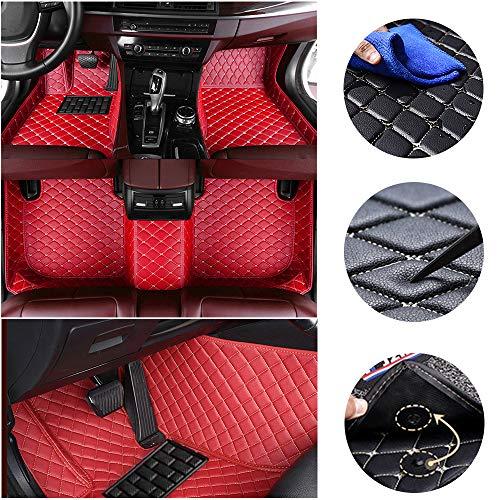 jialaiwo Leder Fußmatten für M ercedes B ENZ A45 AMG 2013-2017 Allwetter Wasserdicht Auto fussmatten Innere zubehör Rot