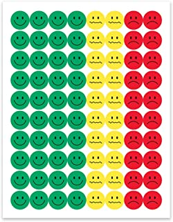 Hygloss Products Visual Behavior Stickers - Incentive Stickers for Students & Kids - Fun Traffic Light Colors - Red, Yellow & Green - ½