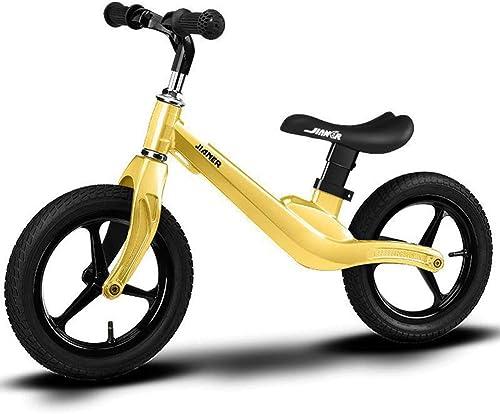 DOS Draisienne Vélo d'entraîneHommest pour vélo d'équilibre pour Enfants et Jeunes Enfants agés de 2 à 5 Ans, Cadre en Alliage de Magnésium pour vélo de 12 po, sans pédale