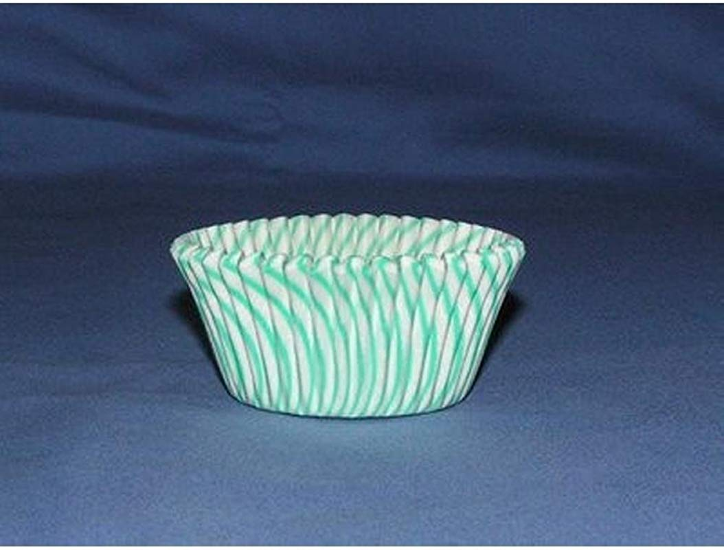 500pc Mini Greaseproof Baking Cup Pisa Design Turquoise