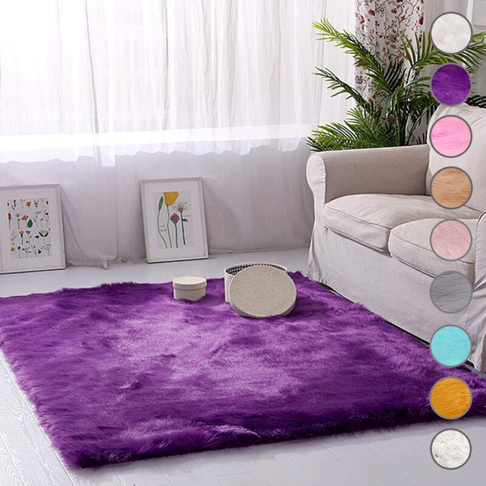 爆安 無料 SODKK Indoor RugPurple Rectangular Cute Carpets Floor 31x Circle