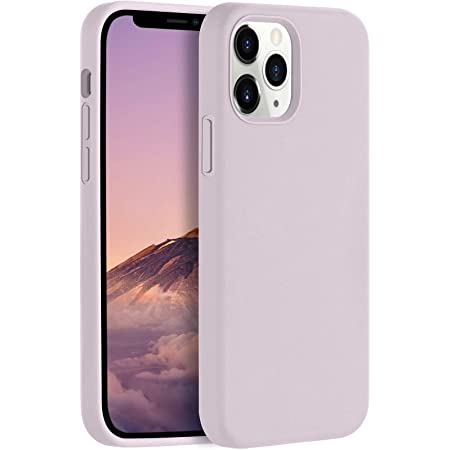 LEOMARON Compatible with iPhone 12 and iPhone 12 Pro Case 6.1 inch, Liquid Silicone Full Body Protection Cover Case with Soft Microfiber Cloth Lining for iPhone 12 and iPhone 12 Pro 2020, Lavender