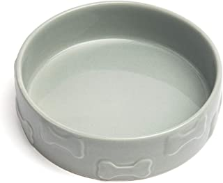 Park Life Designs Pet Bowl, Heavyweight Ceramic Dish Stays Put, Chew-Proof, Microwave and Dishwasher Safe