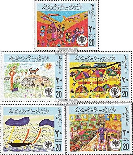 Libye mer.-no.: 717A-721A (complète.Edition.) 1979 Dessins d'enfants (Timbres pour Les collectionneurs)