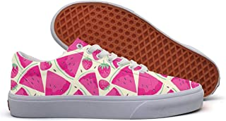 SERXO Tropical Palm Tree Womens Skateboard Shoes Canvas Sneakers Print