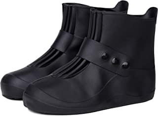 SATINIOR 2 Paires Couvre-Chaussures Imperm/éables en Silicone Couverture de Chaussures Antid/érapante R/éutilisable pour Utilisation de Pluie en Plein Air