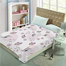 ALUONI Butterflies Decorations Practical Blanket,Butterflies and Branches Romantic Spring Retro Faith Optimism Change Fly Theme for Sofa,78.7''L x 72.8''W